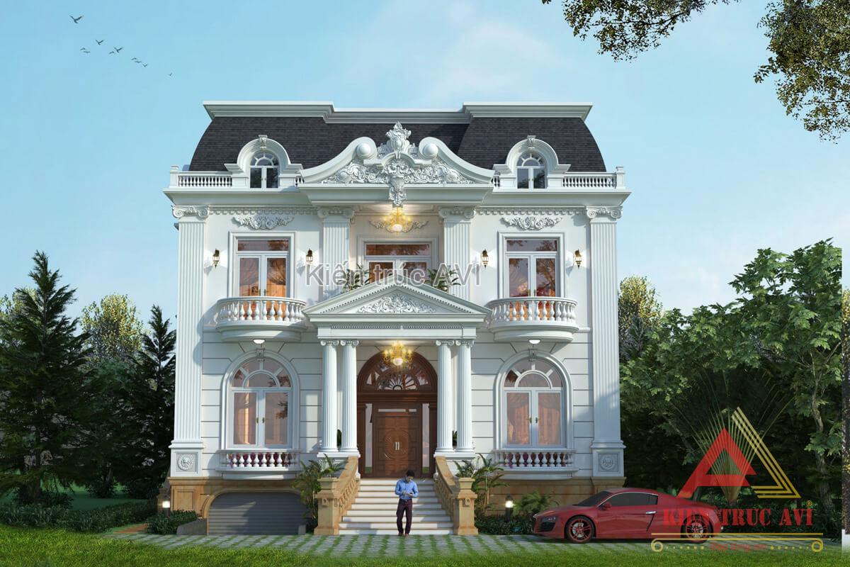 Mẫu thiết kế biệt thự 2 tầng cổ điển