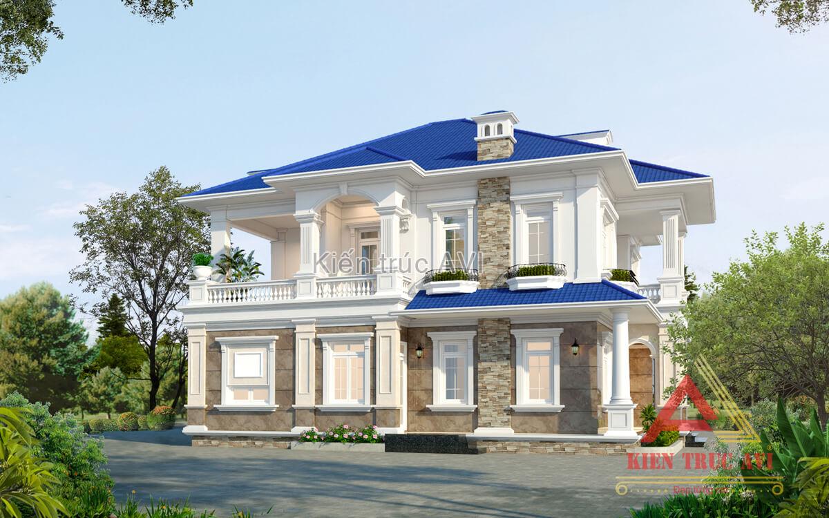 Mẫu thiết kế biệt thự 2 tầng