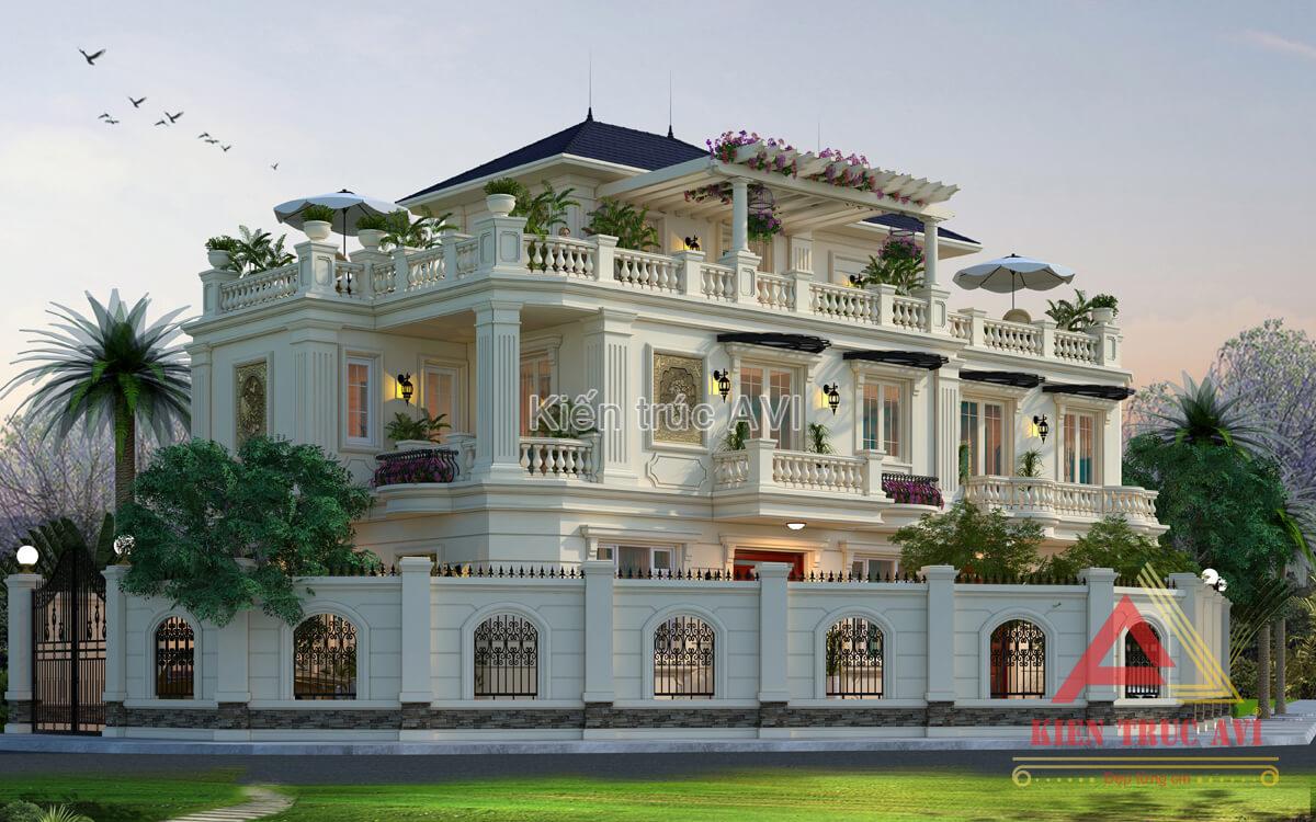 Biệt thự 2 tầng tân cổ điển nổi bật nhất góc phố Đà Nẵng