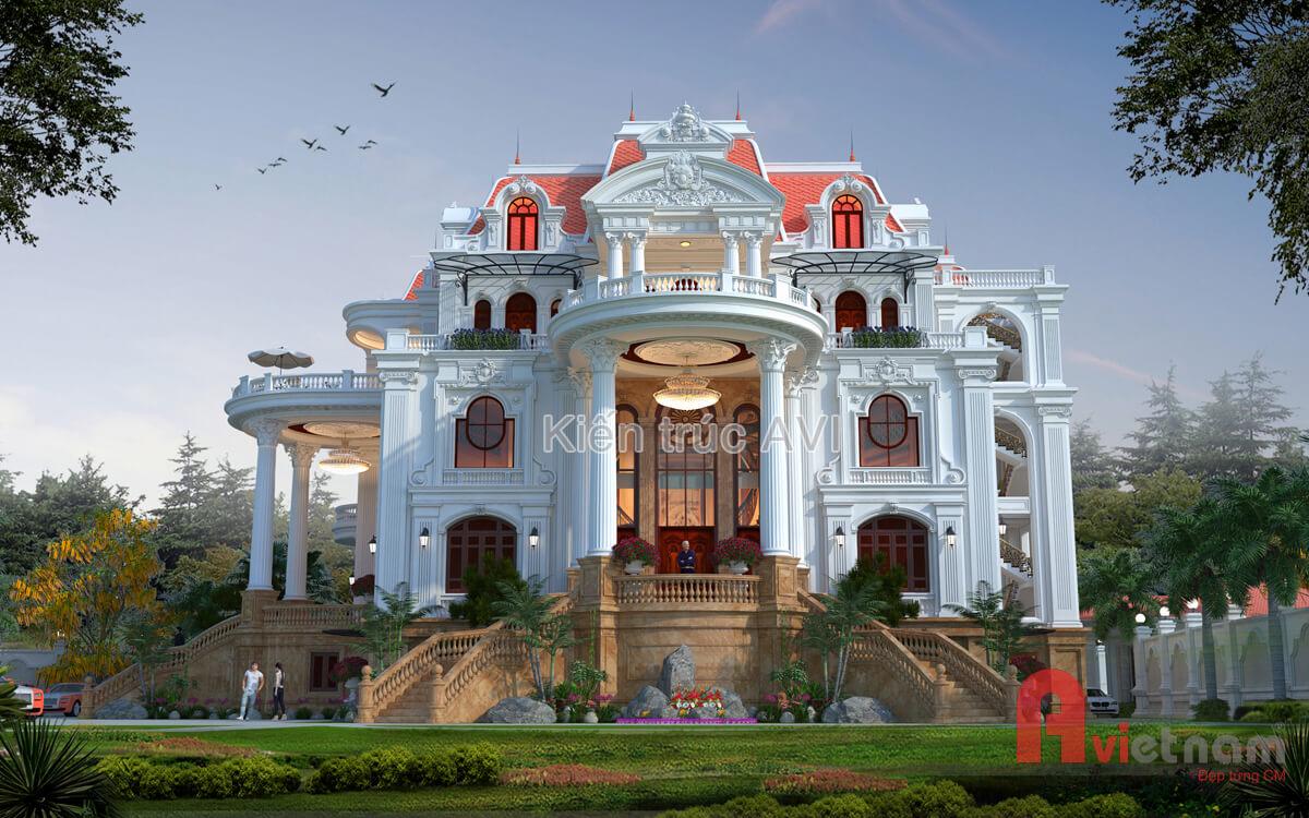 Dinh thự cao cấp 5 tầng kiểu pháp đẹp long lanh tại Lạng Sơn
