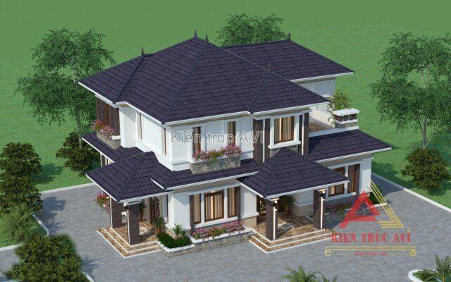 Mẫu biệt thự 2 tầng hiện đại tại Ninh Bình - Kiến Trúc AVI