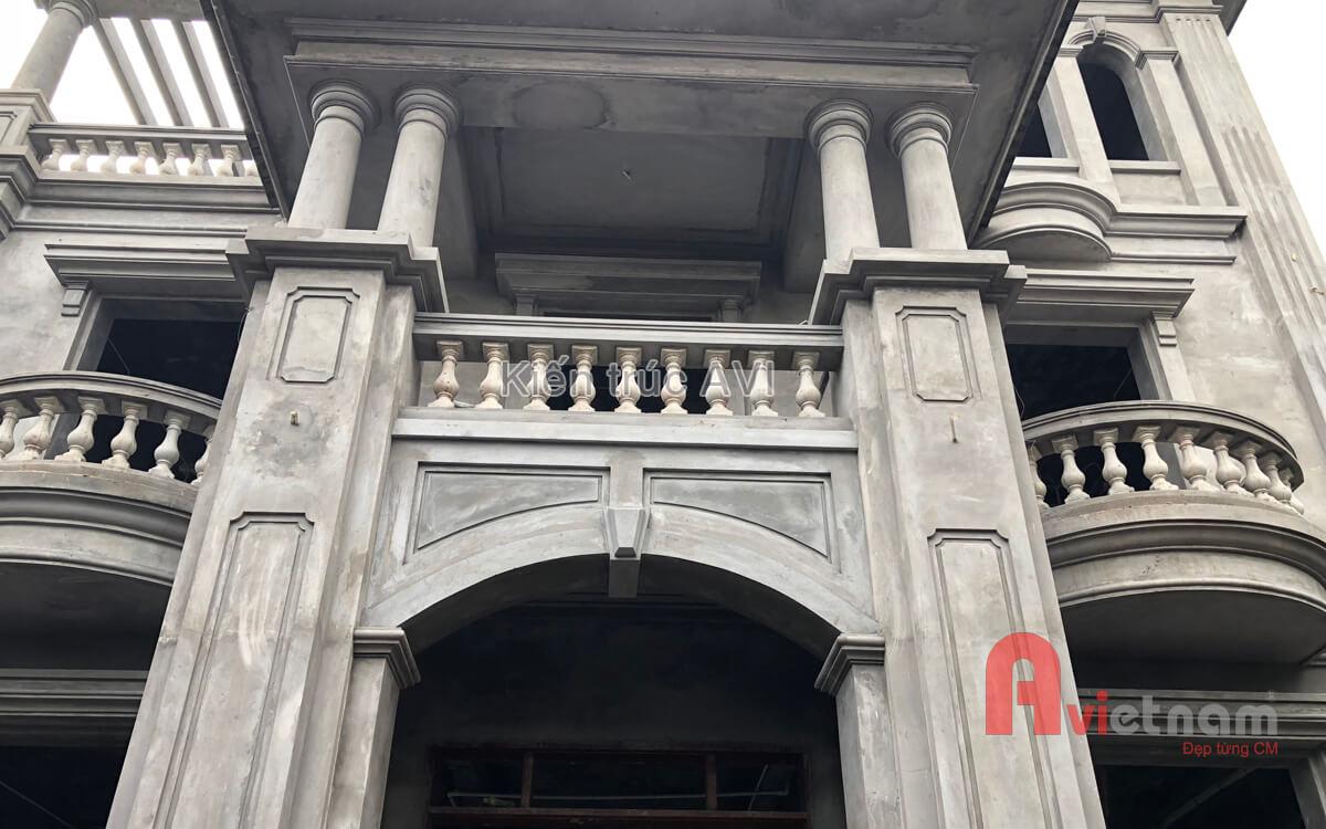 Thiết kế biệt thự 3 tầng tân cổ điển mái thái tại Hà Nội