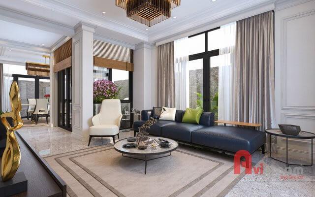 Thiết kế nội thất biệt thự phong cách hiện đại tại Hạ Long