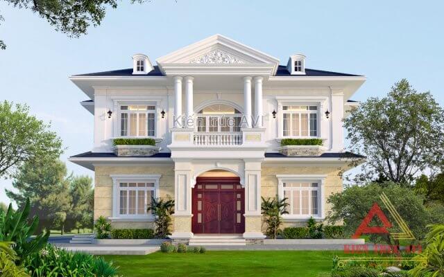 Thiết kế biệt thự 2 tầng tân cổ điển tuyệt đẹp tại Bắc Giang