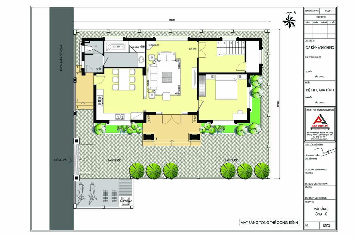 Mặt bằng biệt thự 2 tầng tân cổ điển KT17087