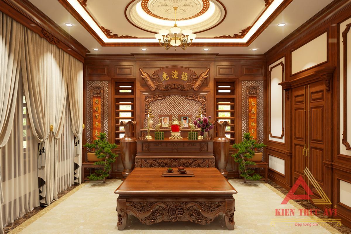 Nội thất phòng thờ cho căn biệt thự