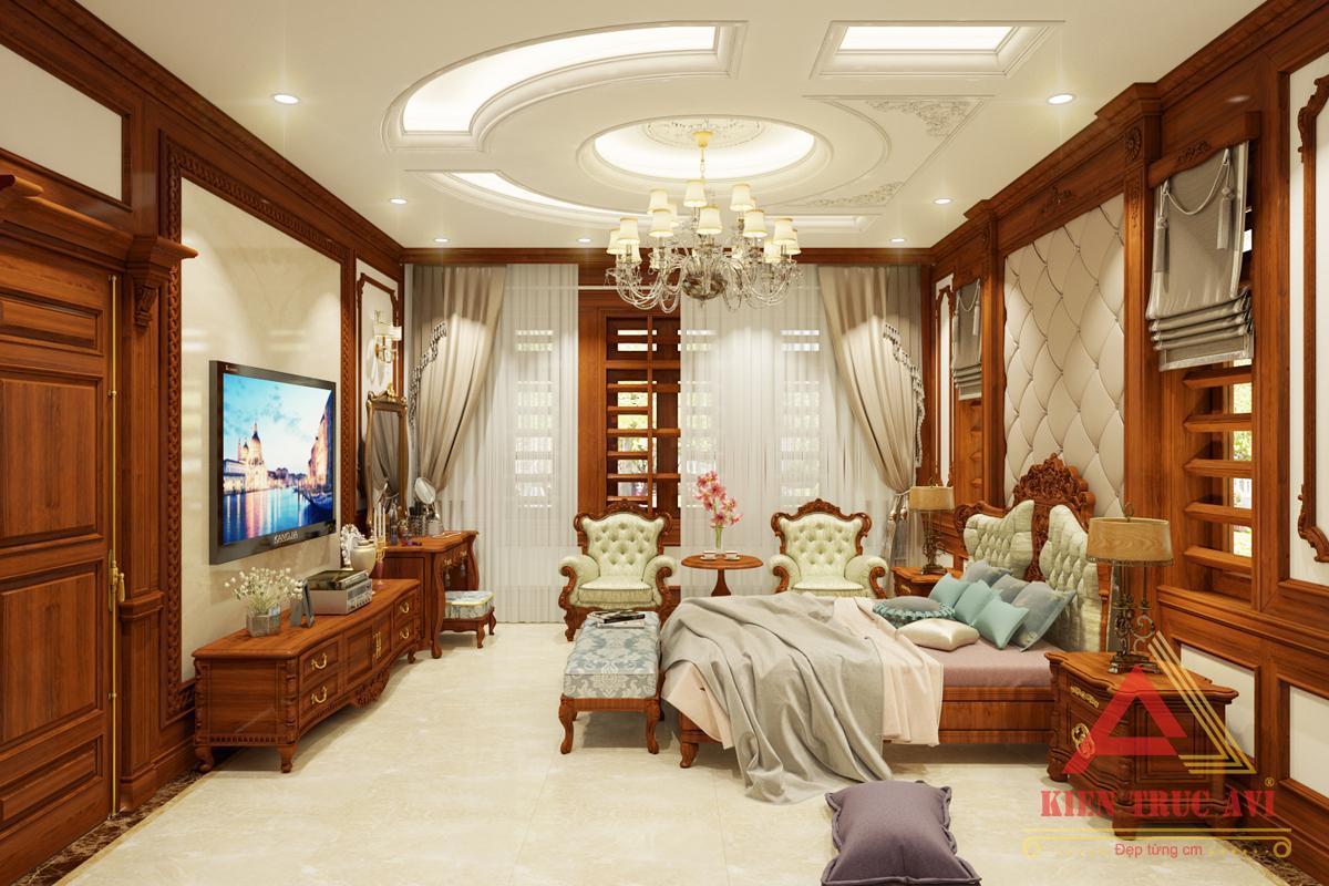 Nội thất phòng ngủ cho căn biệt thự