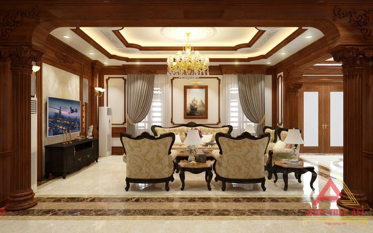 Nội thất phòng khách cho căn biệt thự