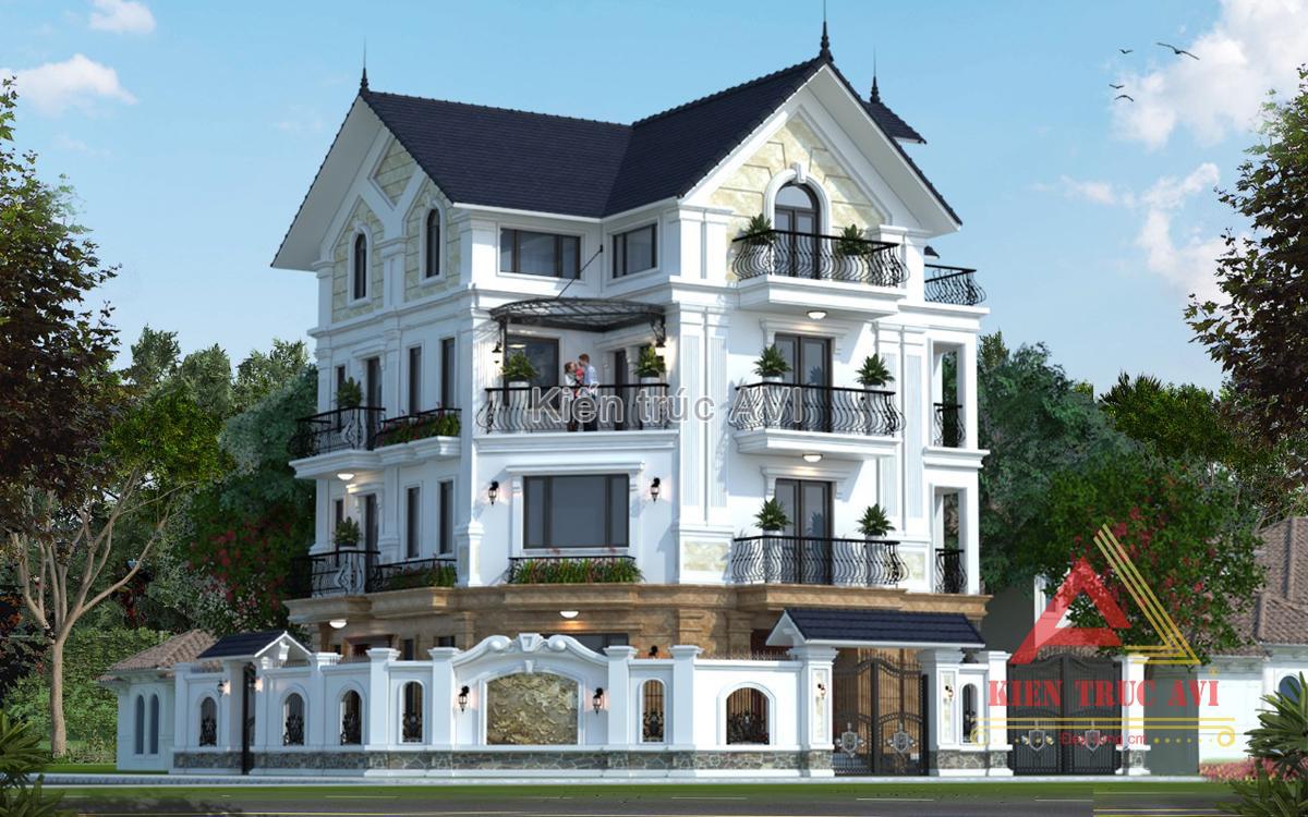 Thiết kế cải tạo biệt thự 4 tầng tân cổ điển tại Hà Nội