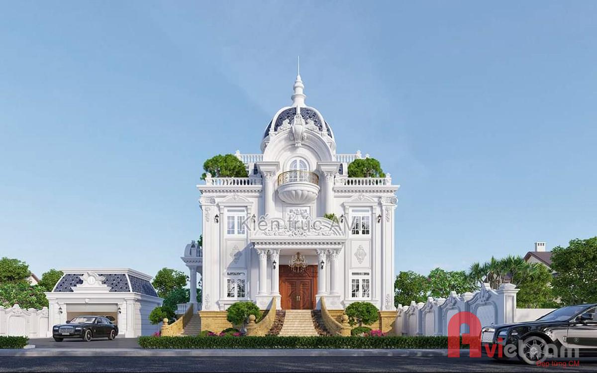 Mẫu dinh thự 3 tầng cổ điển Pháp