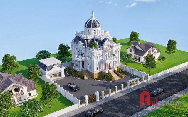 Mẫu dinh thự 3 tầng cổ điển Pháp sang trọng tại An Giang