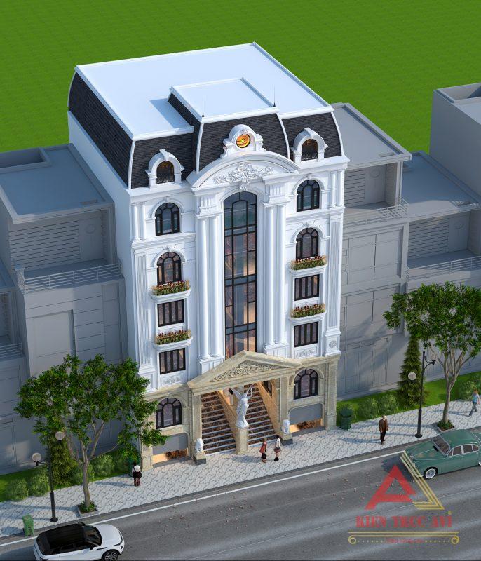 Thiết kế tòa nhà văn phòng kiến trúc pháp tại Quảng Ninh