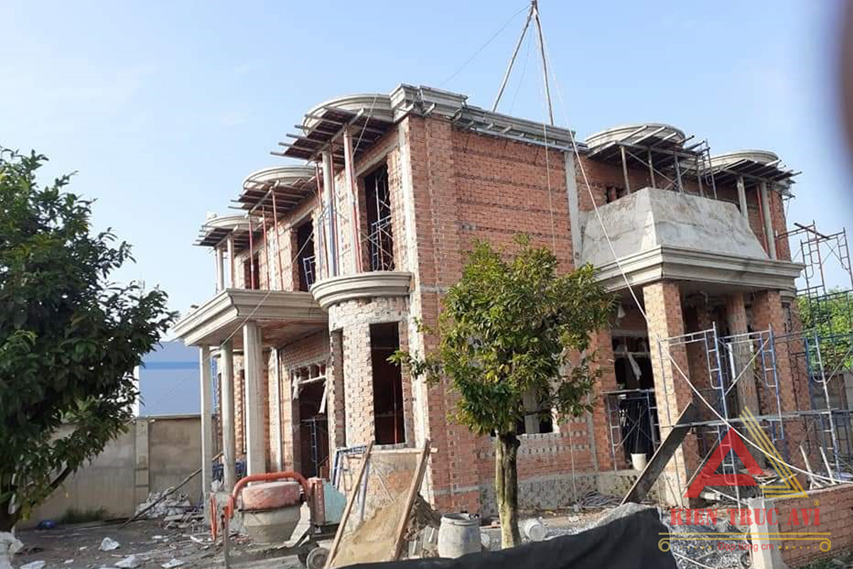 Thiết kế thi công mẫu biệt thự 3 tầng tân cổ điển tại Vũng Tàu