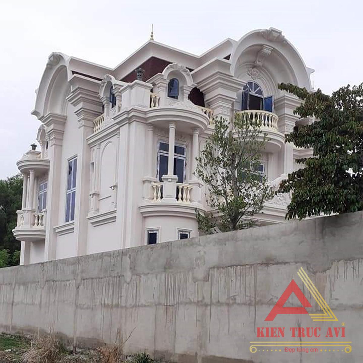 Thiết kế thi công mẫu biệt thự 3 tầng tân cổ điển