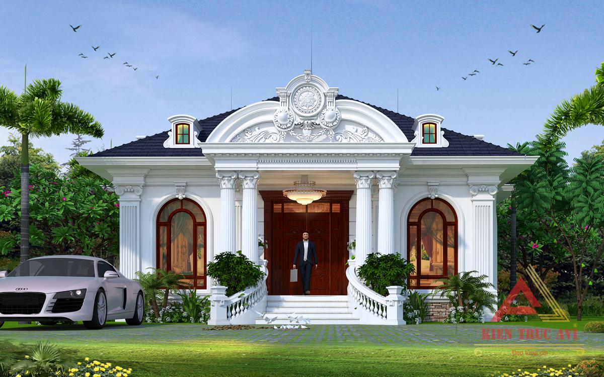 Mẫu thiết kế biệt thự vườn 1 tầng tuyệt đẹp