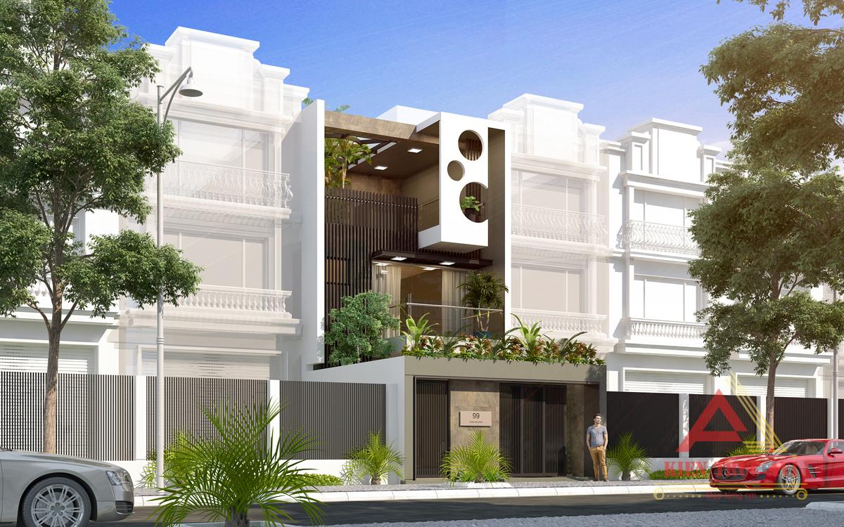 Mẫu thiết kế nhà phố hiện đại 3 tầng tuyệt đẹp tại Bắc Ninh
