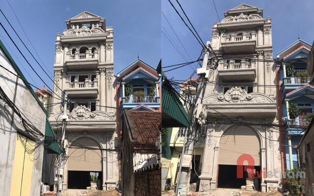 Thi công hoàn thiện nhà phố cổ điển Pháp tại Hà Nội