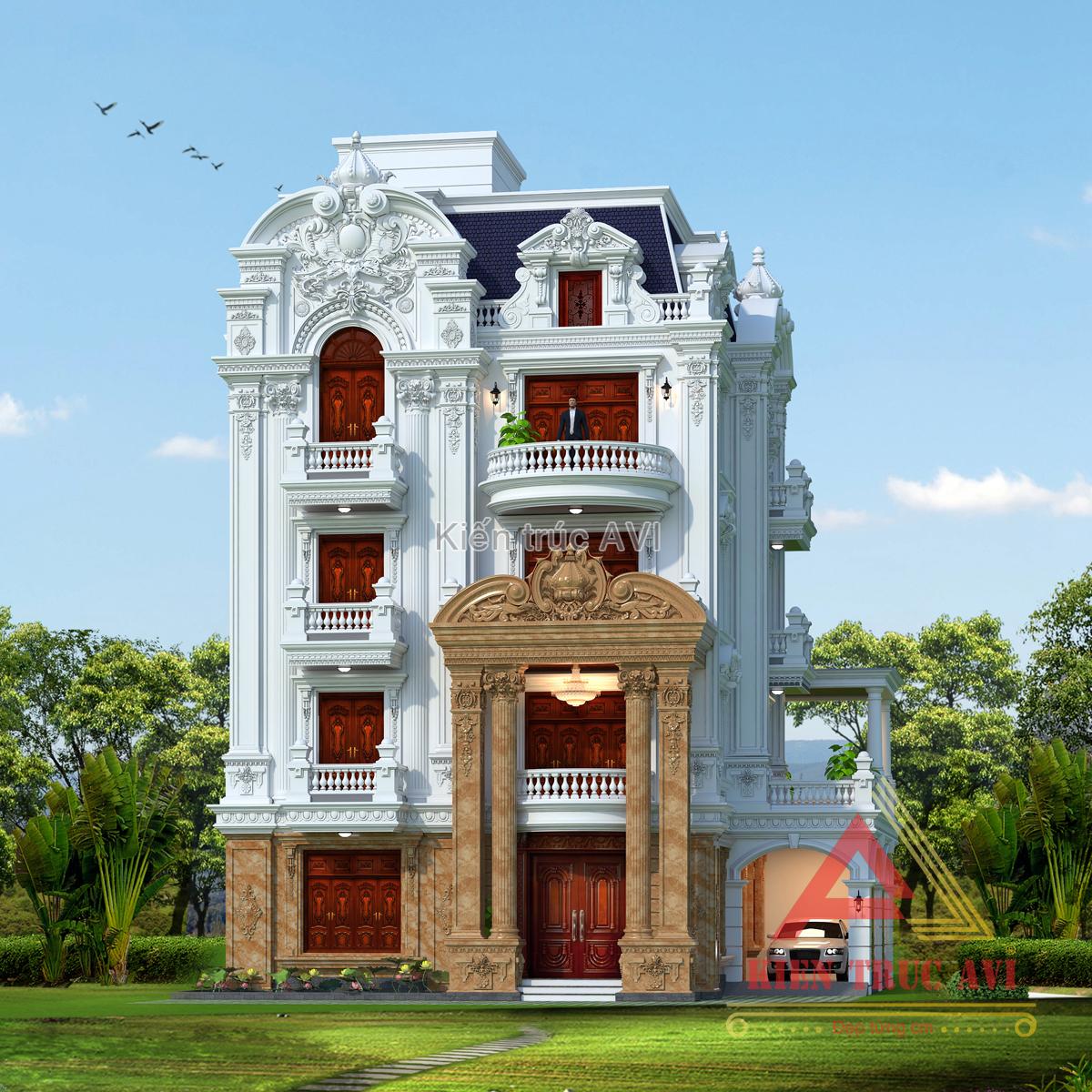 Mẫu thiết kế tòa lâu đài cao cấp
