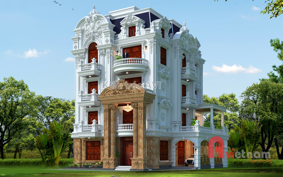 Thiết kế tòa lâu đài cao cấp kiểu mẫu tại Long Biên, Hà Nội