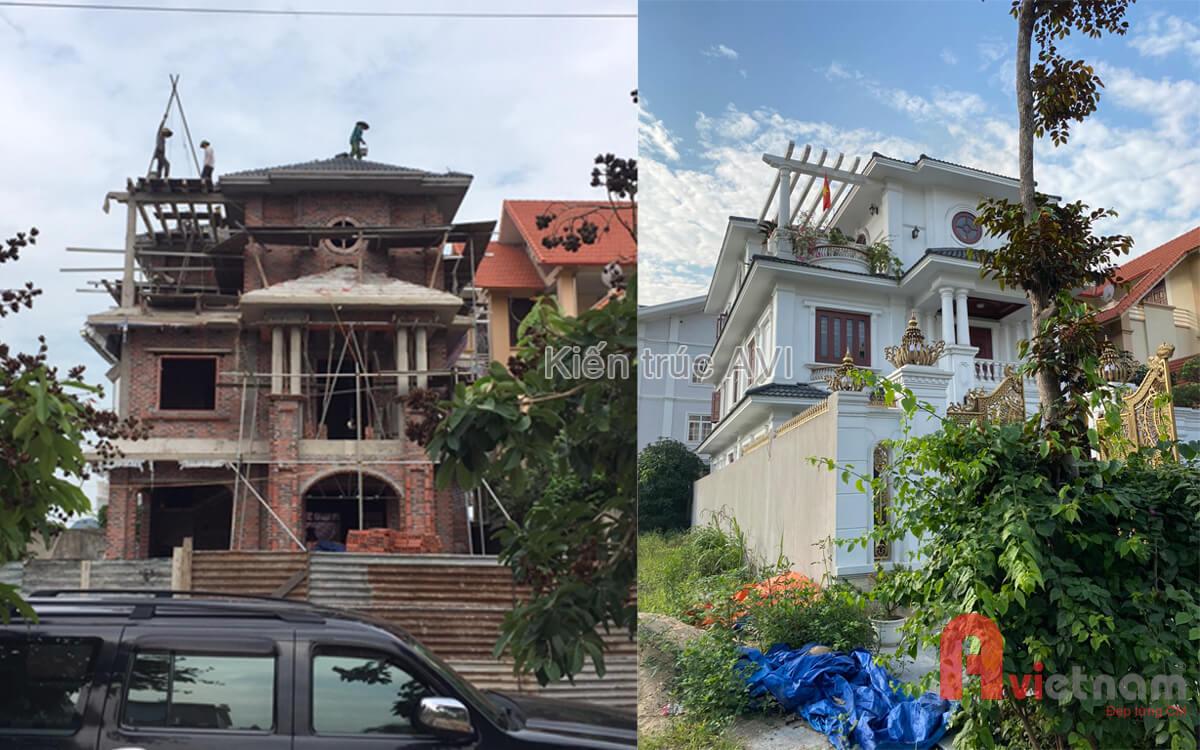 Thi công hoàn thiện biệt thự 3 tầng tân cổ điển tại Quảng Ninh