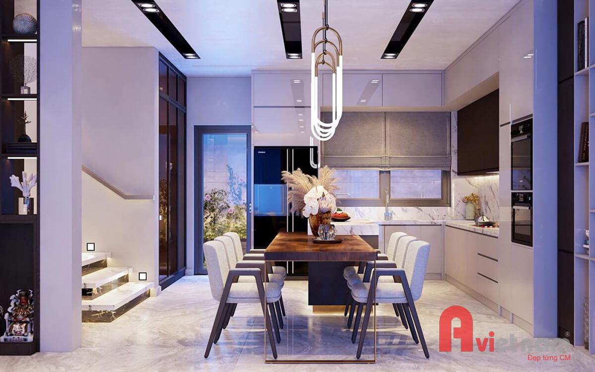 Nội thất phòng ăn + phòng bếp