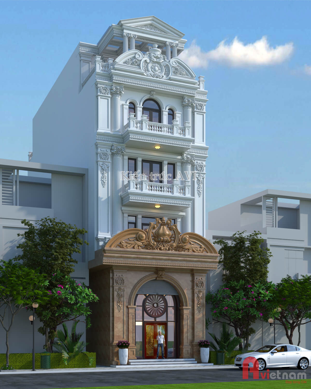 Mẫu thiết kế nhà phố cổ điển