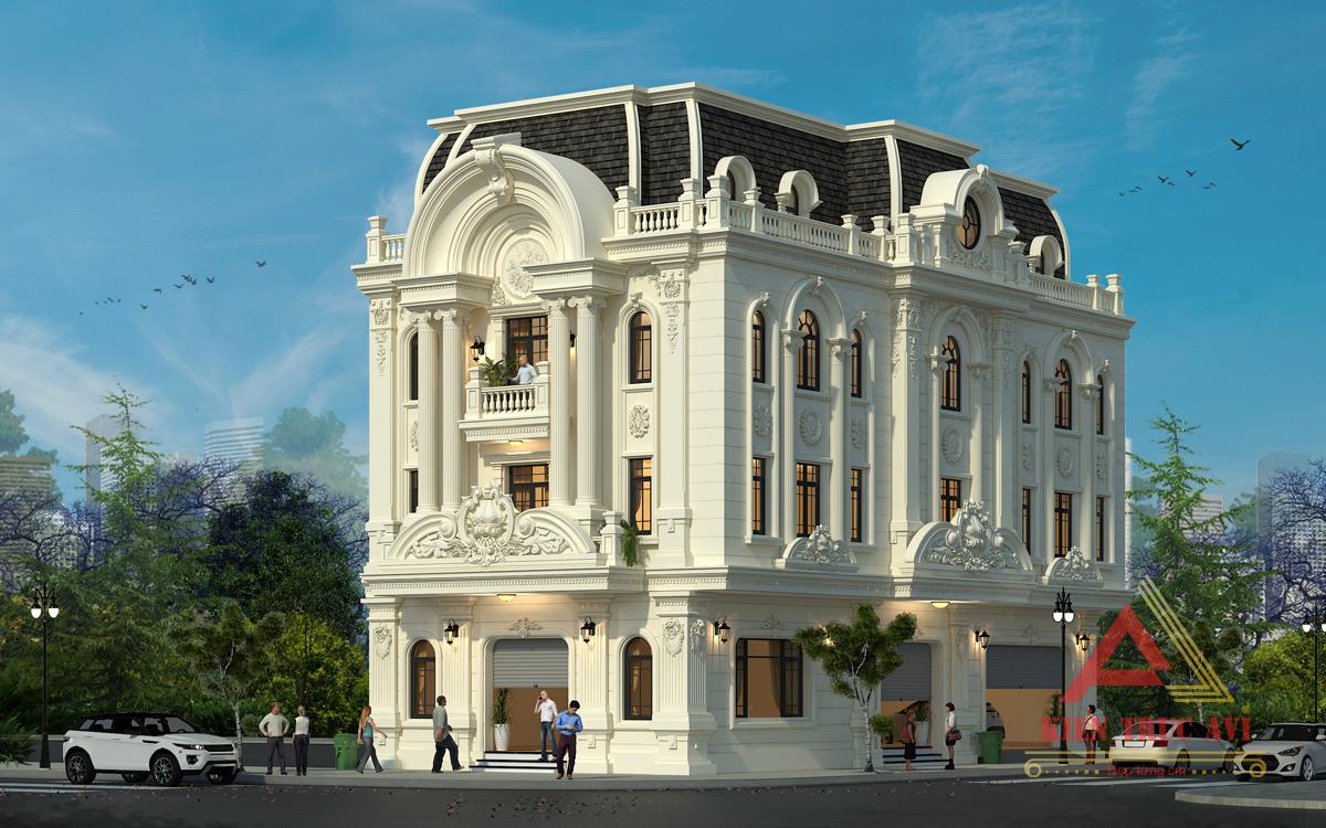 Thiết kế nhà phố cổ điển kiến trúc pháp