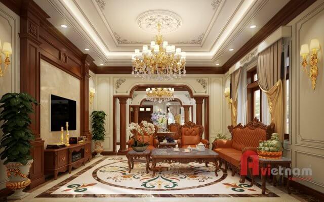 Mẫu thiết kế nội thất tân cổ điển tại Cẩm Phả, Quảng Ninh