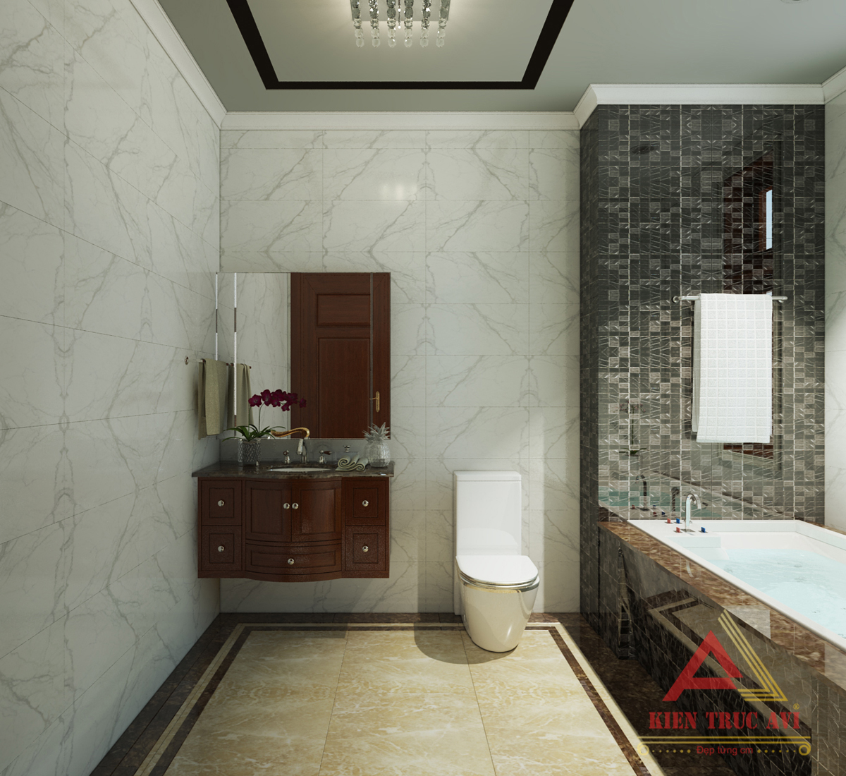 Thiết kế nội thất phòng vệ sinh