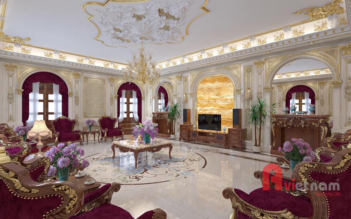 Thiết kế nội thất cổ điển Châu Âu cực kỳ đẹp và sang trọng