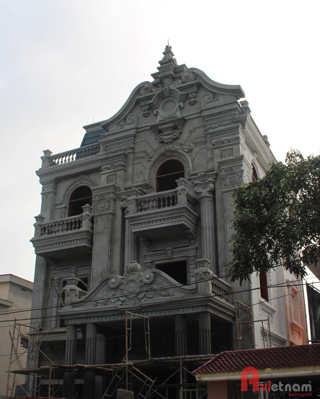 Thi công biệt thự 3 tầng cổ điển Pháp