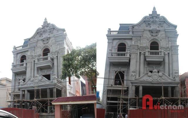 Thi công hoàn thiện biệt thự 3 tầng cổ điển Pháp ở Thái Bình