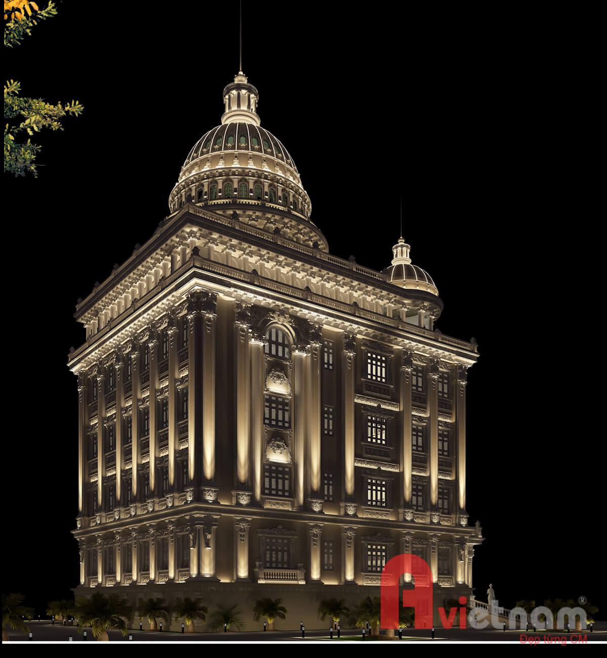Thiết kế chiếu sáng cho lâu đài cao cấp