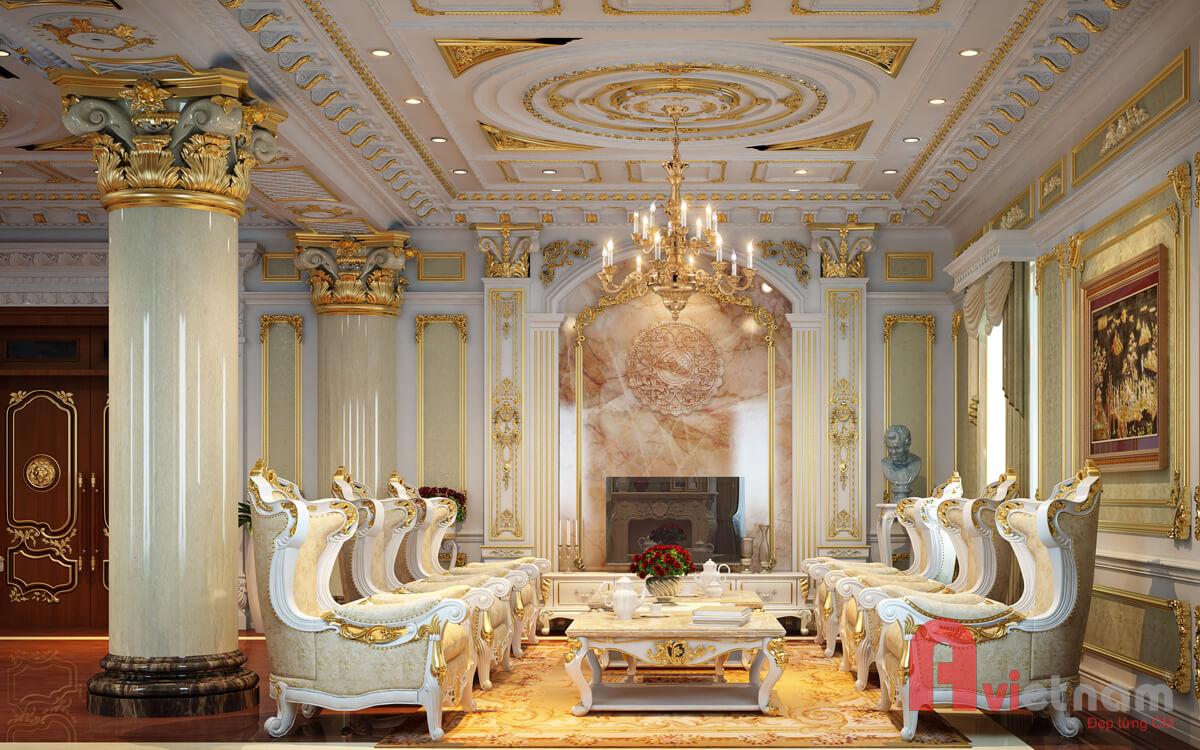 Thiết kế nội thất cho tòa lâu đài cao cấp