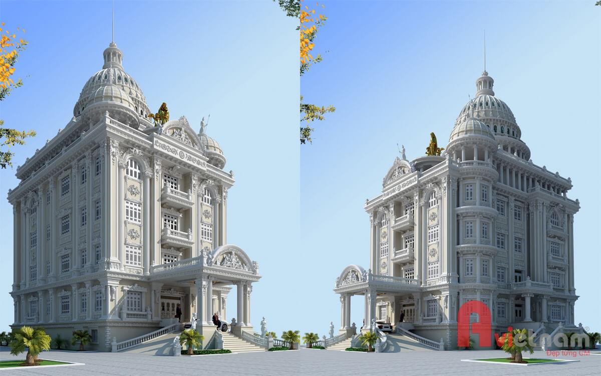 Thiết kế cải tạo tòa lâu đài cao cấp cực kỳ đẹp ở Ninh Bình