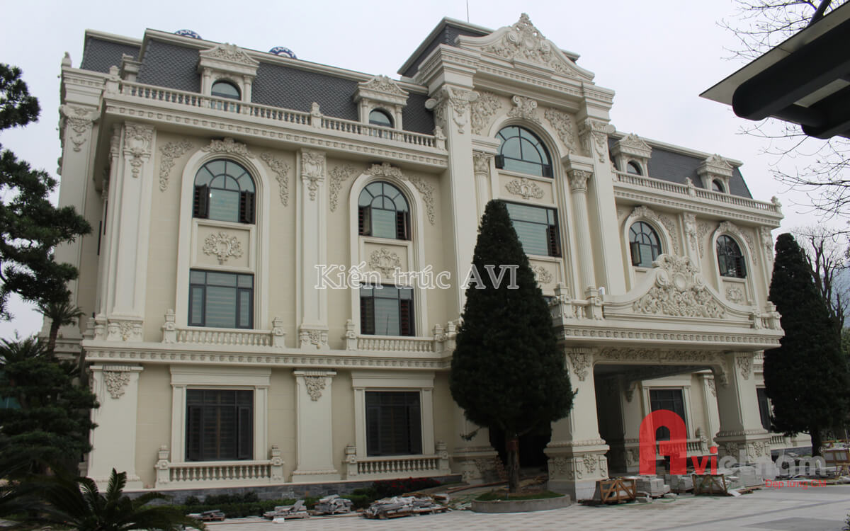 Thi công hoàn thiện bản vẽ thiết kế dinh thự cao cấp Quảng Ninh