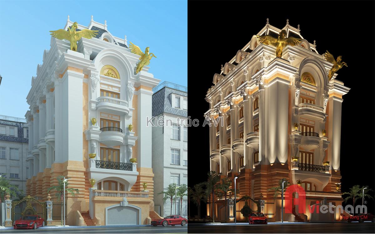 Mẫu thiết kế biệt thự cổ điển châu âu cực kỳ đẹp ở Lào Cai