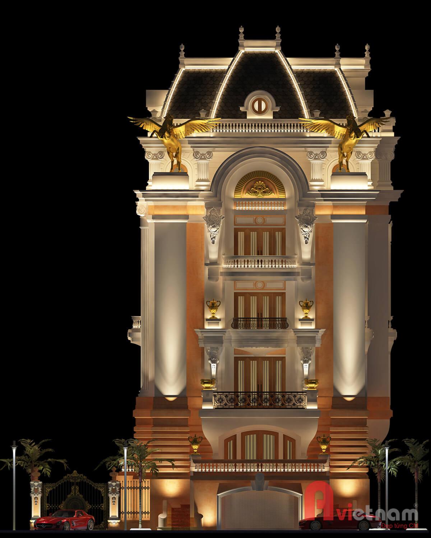 Mẫu thiết kế biệt thự cổ điển châu âu cực kỳ đẹp