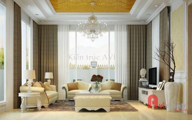 Mẫu thiết kế nội thất tân cổ điển sang trọng NT20025