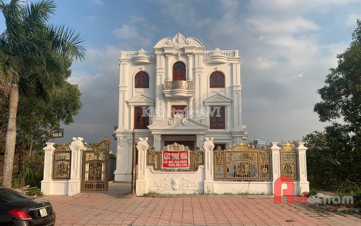 Thiết kế biệt thự 3 tầng cổ điển pháp tại Hạ Long Quảng Ninh