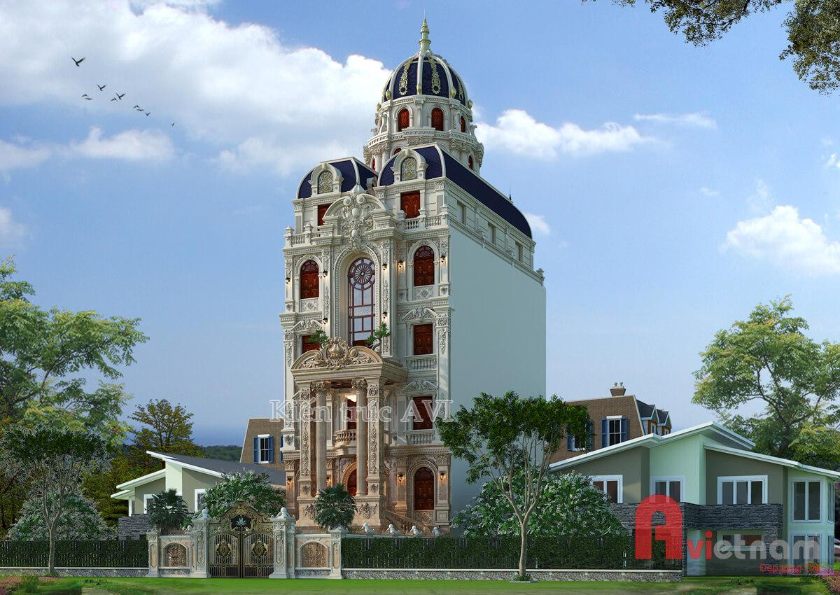 Mẫu thiết kế dinh thự - lâu đài cao cấp