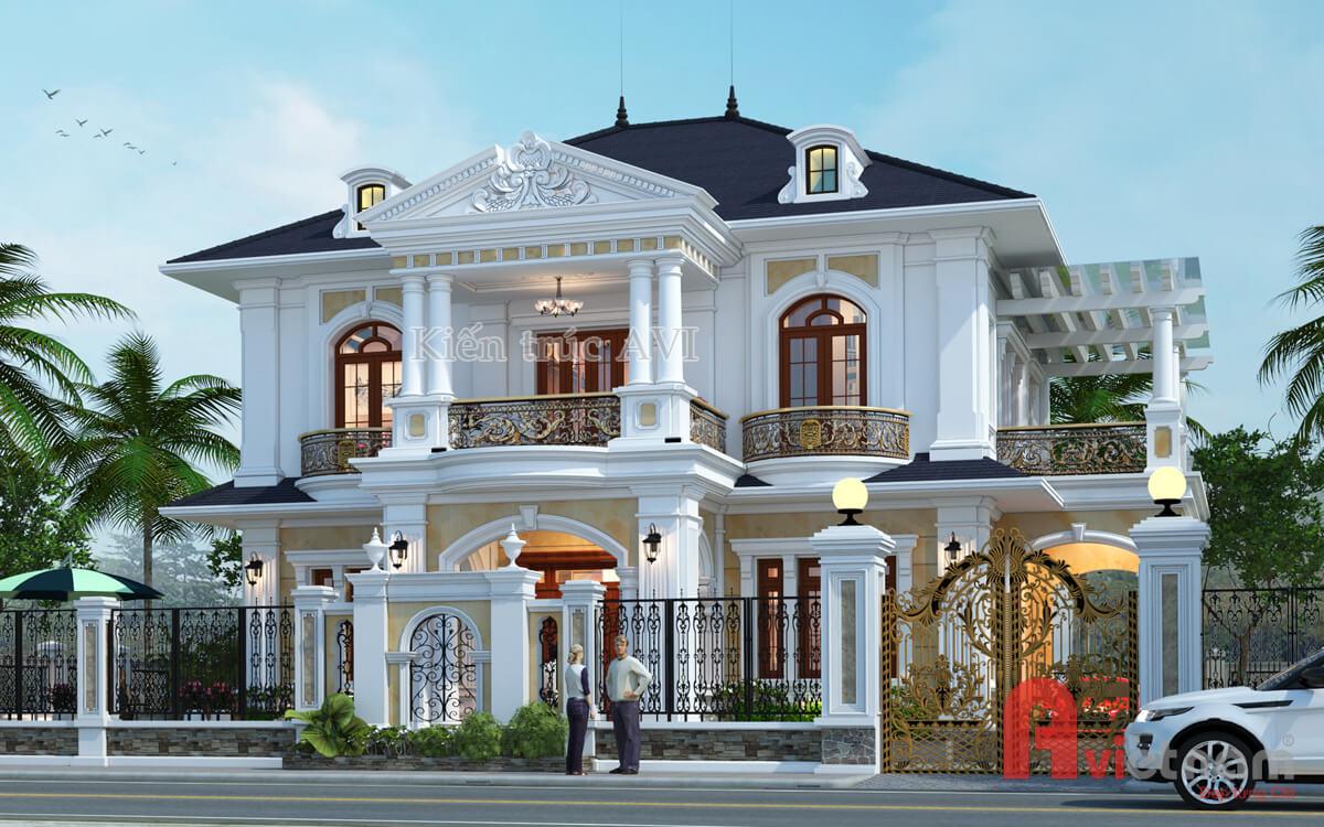 Mẫu thiết kế biệt thự 2 tầng đẹp