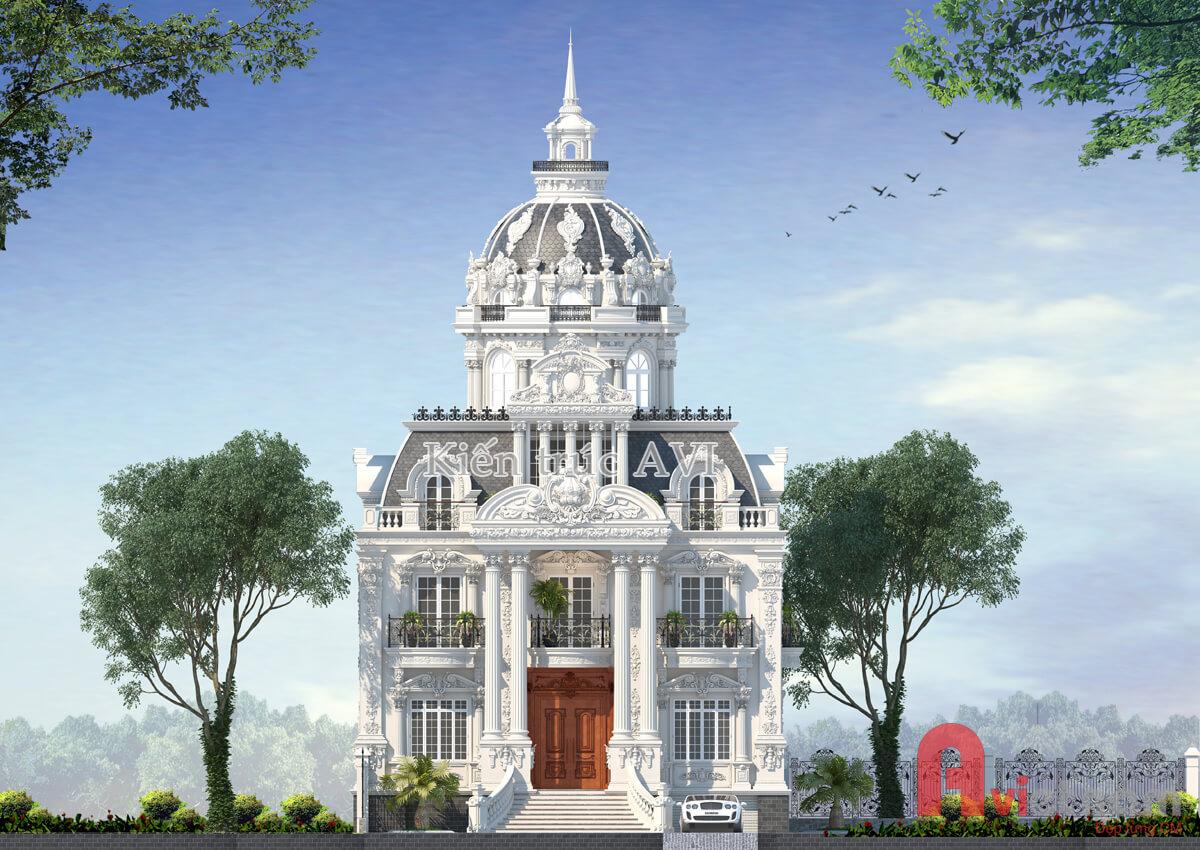Thiết kế mẫu dinh thự cao cấp tại Hà Nội
