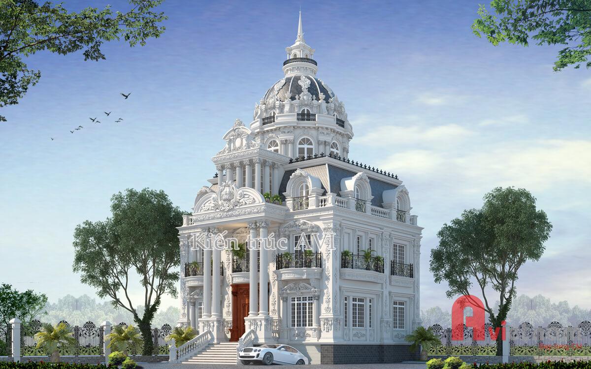 Thiết kế dinh thự cao cấp, sang trọng, tuyệt đẹp tại Hà Nội
