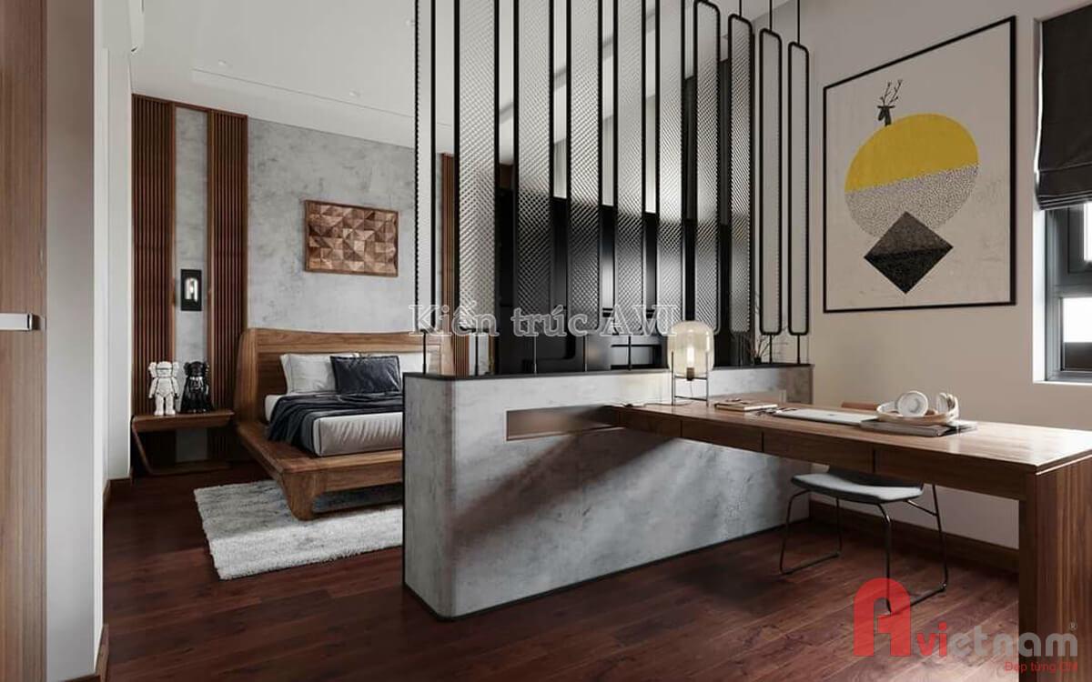 Thiết kế nội thất phòng ngủ mang phong cách hiện đại