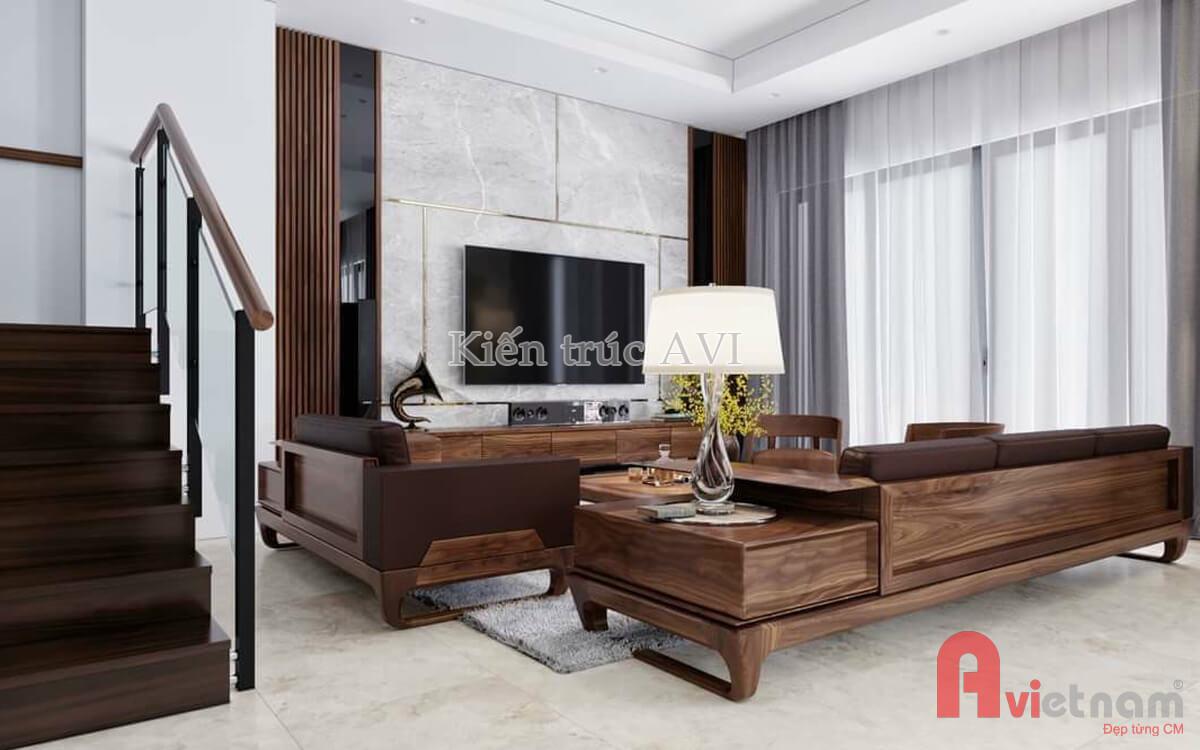 Thiết kế nội thất phòng khách mang phong cách hiện đại