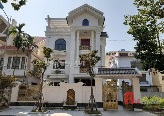 Thiết kế - thi công biệt thự 4 tầng tân cổ điển ở Bắc Ninh