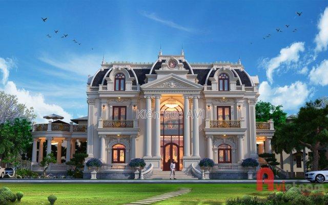 Mẫu thiết kế biệt thự 3 tầng cổ điển châu Âu