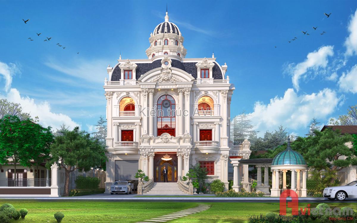 Mẫu thiết kế biệt thự lâu đài cao cấp