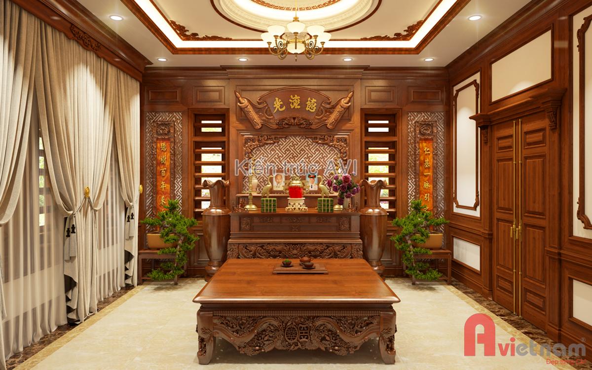 Thiết kế nội thất phòng thờ đẹp
